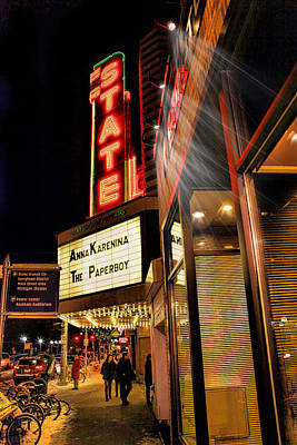 State Theater Marquee Art Print by Pat Cook