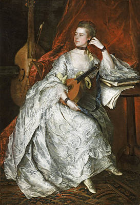 Lute Photograph - Ann Ford Later Mrs Philip Thicknesse, 1760 Oil On Canvas by Thomas Gainsborough
