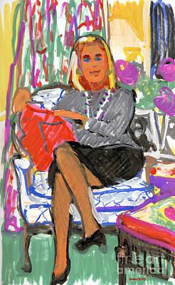 Ann Gleason In Chair Original