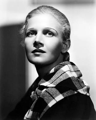 Harding Photograph - Ann Harding In Biography Of A Bachelor Girl  by Silver Screen