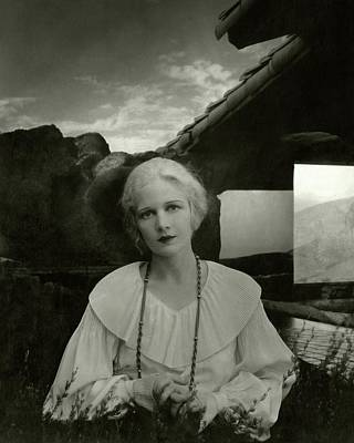 1930s Fashion Photograph - Ann Harding Wearing A Blouse by Edward Steichen