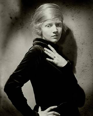 1920s Fashion Photograph - Ann Harding Wearing A Dress by Edward Steichen