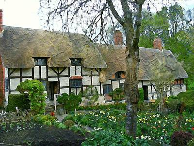 Stratford Photograph - Ann Hathaway Cottage by Mindy Newman