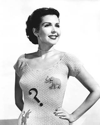 Photograph - Ann Miller Election Dilemma by Underwood Archives