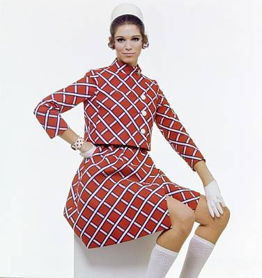 Photograph - Ann Turkel Wearing An Originala Suit by Gianni Penati