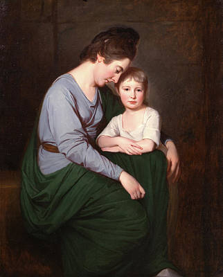 Shawl Painting - Ann Wilson With Her Daughter by Litz Collection