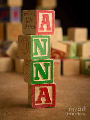 Photograph - Anna - Alphabet Blocks by Edward Fielding