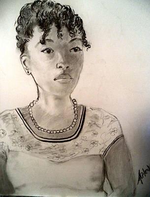 Drawing - Anna by Arlen Avernian Thorensen