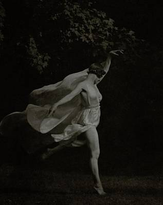 Photograph - Anna Duncan In Character As A Wood Nymph by Arnold Genthe