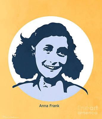 Jewish Symbol Painting - Anna Frank by Mark Ashkenazi
