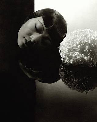 Photograph - Anna May Wong Resting Her Head by Edward Steichen
