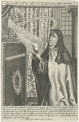Jesus Drawing - Anna Of Jesus, Michel Van Lochom by Quint Lox