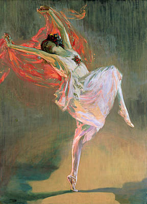 Dance Painting - Anna Pavlova, 1910 by Sir John Lavery