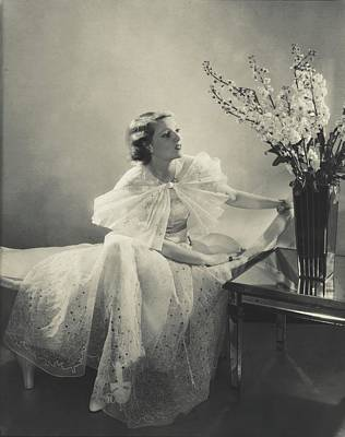 Annabella Wearing An Organdie Dress Art Print