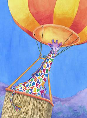 Annabelle Painting - Annabelle Aloft by Rhonda Leonard