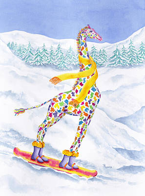 Giraffe Painting - Annabelle On Pow by Rhonda Leonard