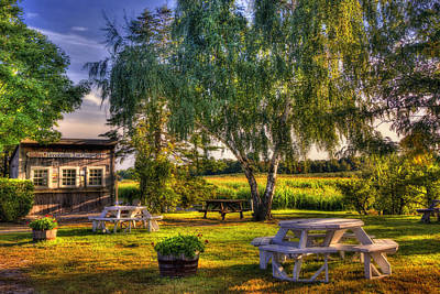 Willows In Fall Photograph - Annabelle's Ice Cream Shop by Joann Vitali