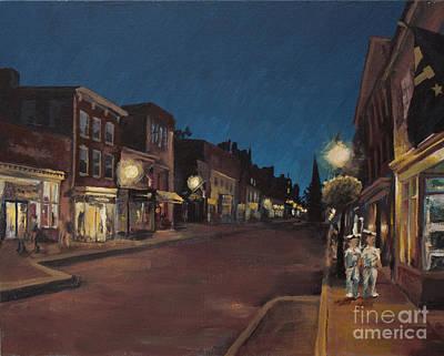 Annapolis At Night Main Street Art Print