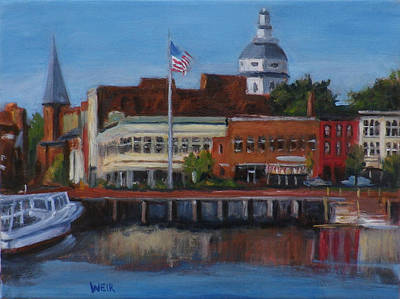 Ego Alley Annapolis City Dock Md Art Print