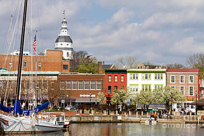 Annapolis Downtown Harbor Art Print