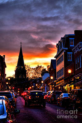 Streetlight Photograph - Annapolis Night by Olivier Le Queinec