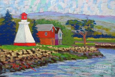 Annapolis Royal Lighthouse 2 Art Print by Rae  Smith