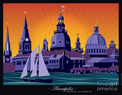 Annapolis Steeples And Cupolas Art Print