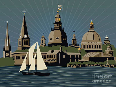 Annapolis Steeples And Cupolas Serenity Art Print