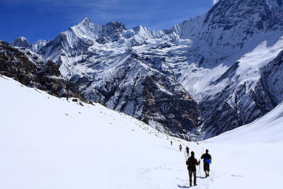 Photograph - Annapurna Sanctuary by Aidan Moran