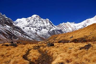 Fire Photograph - Annapurna South Ridge 2 by FireFlux Studios