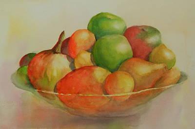 Anna's Fruit Bowl Art Print by Dorothy Nalls