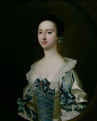 Anne Bateman, Later Mrs. John Gisbourne, 1755 Art Print by Joseph Wright of Derby