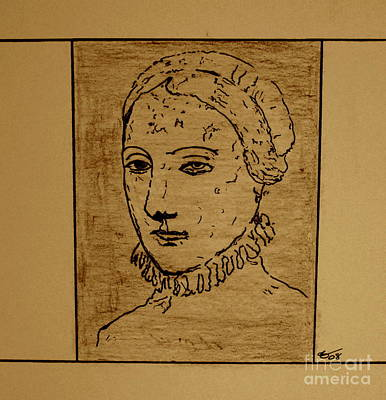 Art Print featuring the drawing Anne by Bill OConnor