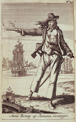 Female Pirate Photograph - Anne Bonny by British Library