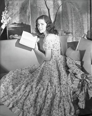 September 16 Photograph - Anne Bullitt Reading A Book by Horst P. Horst