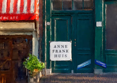 Photograph - Anne Frank House. Amsterdam by Juan Carlos Ferro Duque