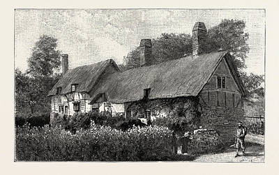 Stratford Drawing - Anne Hathaways Cottage At Shottery, Near Stratford-on-avon by English School