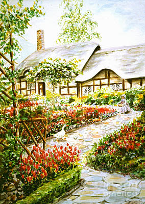 Painting - Anne Hathaway's Cottage At Stratford Upon Avon by Dee Davis