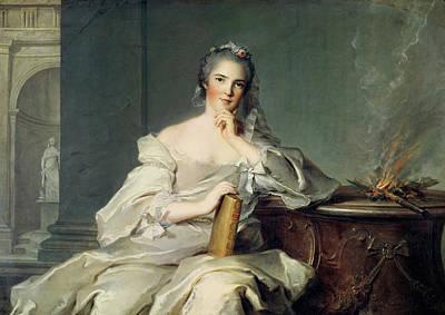 Anne-henriette De France, As The Element Of Fire, 1750-1 Oil On Canvas Art Print by Jean-Marc Nattier