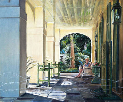 Painting - Anne In Charleston by Carolyn Coffey Wallace