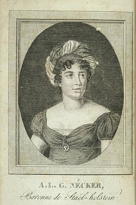Anne Louise Germaine Necker Art Print by British Library