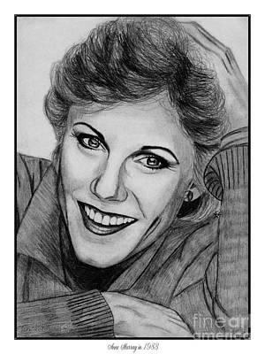 Famous Women Singers Drawing - Anne Murray In 1983 by J McCombie