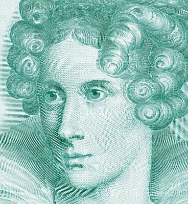 Beauty Mark Drawing - Annette Von Droste-hulshoff by Grigorios Moraitis