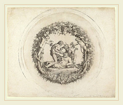 Drunken Drawing - Annibale Carracci Italian, 1560-1609, The Drunken Silenus by Litz Collection