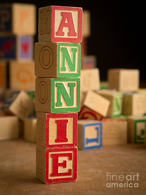 Photograph - Annie - Alphabet Blocks by Edward Fielding