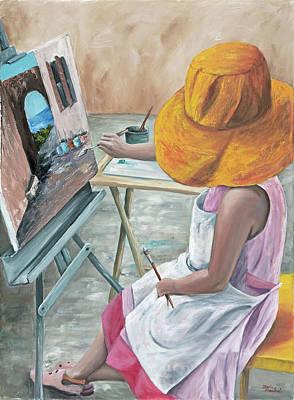 Pink Shoes Painting - Annie by Darice Machel McGuire