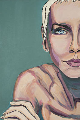 Annie Lennox Talk To Me Art Print by Christel  Roelandt