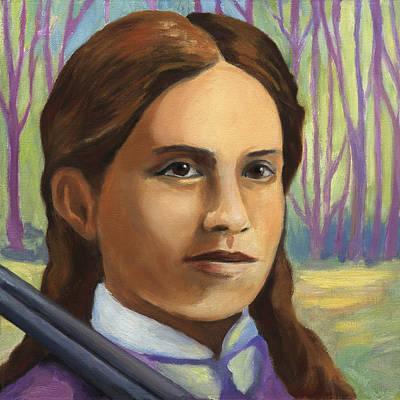 Painting - Annie Oakley by Linda Ruiz-Lozito