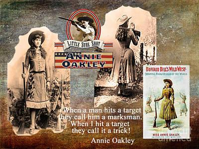 Maureen Digital Art - Annie Oakley by Maureen Tillman