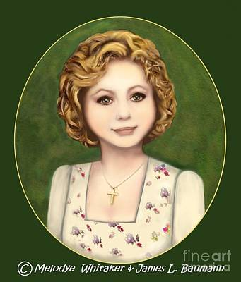 Painting - Annie Russo Portrait by Melodye Whitaker